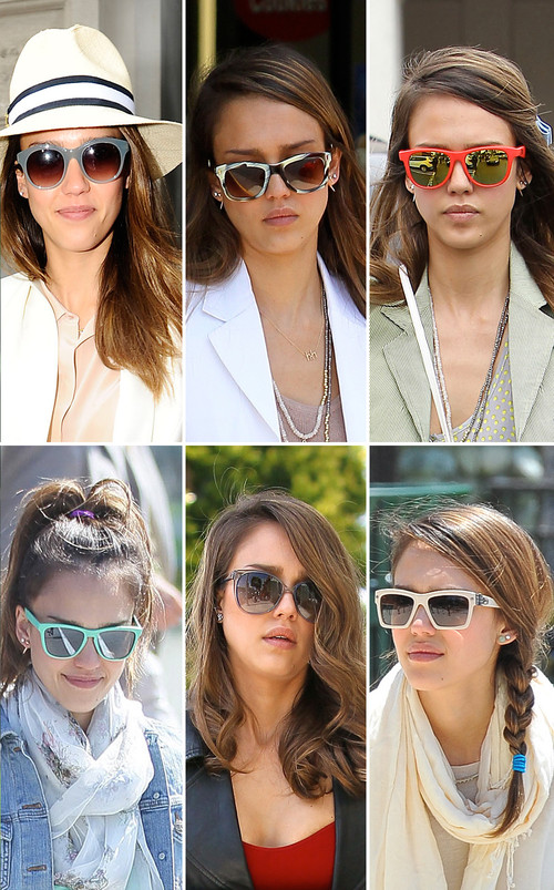 Jessica Alba ist ein echter Sonnenbrillen-Fan