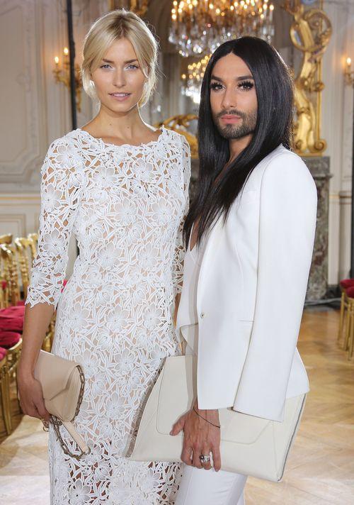 Lena Gercke und Conchita Wurst besuchten die Paris Fashion Week