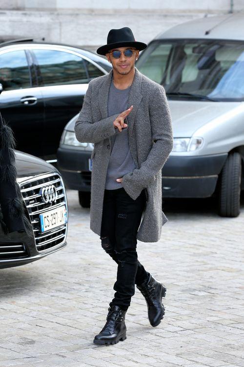 Lewis Hamilton machte die Pariser Fashion Week unsicher