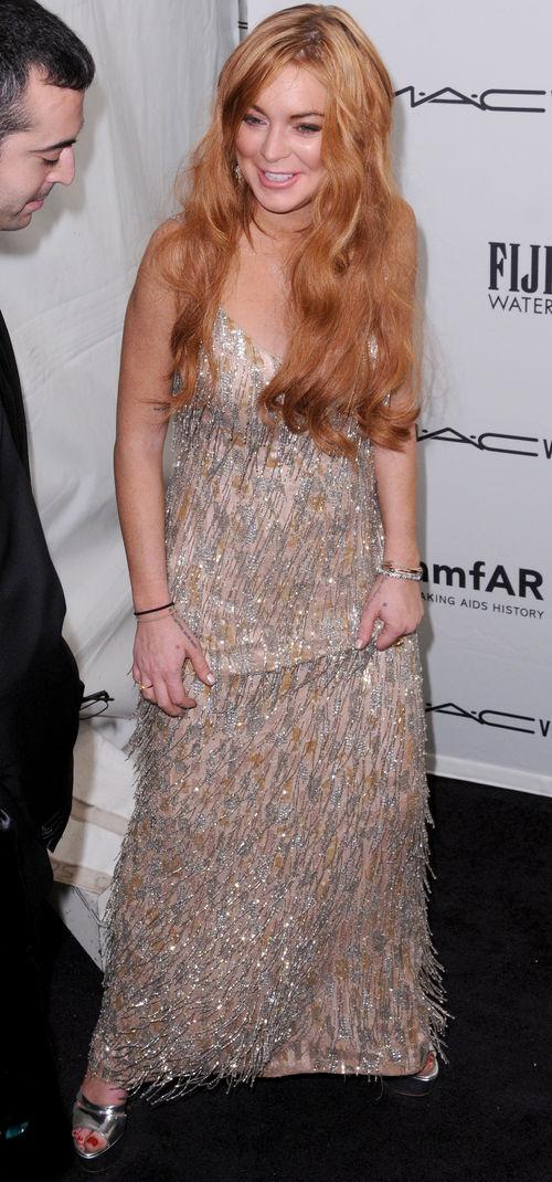 Lindsay Lohan hat sich ein Kleid für die amFAR Gala geliehen