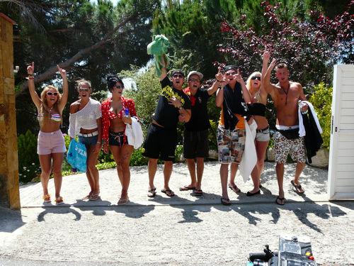 Lory Glory, Bauer, Ling-Ling, Maikiboy, Emilio, Der Pole, Leo und Jerôme hatten heute wieder richtig Spaß