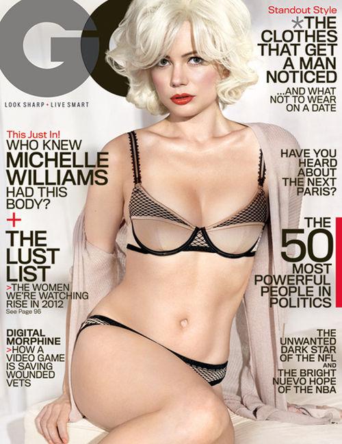 Michelle Williams zeigt sich ganz sexy auf dem GQ-Cover