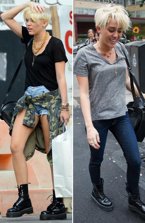 Miley Cyrus - Miley Cyrus zeigt sich zunehmend im Grunge-Look