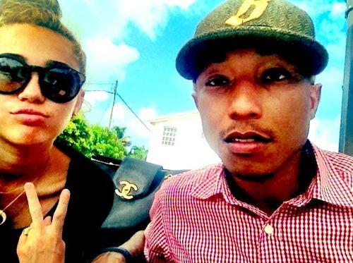 Miley macht wohl mit Pharrell Williams gemeinsame Sache