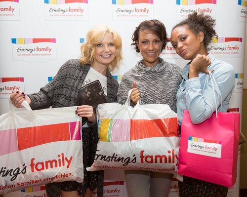 Milka Loff Fernandes, Eva Imhof und Miriam Pielhau wurden mit Kleidung von Ernsting's Family ausgestattet