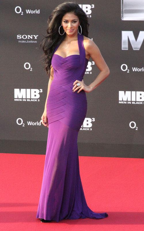 """Nicole Scherzinger erschien bei der """"MIB 3""""-Premiere im violetten Abendkleid"""