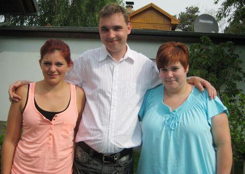 Andy wählte Melanie (rechts im Bild)