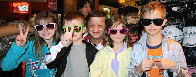 Andreas Liebisch und seine Kinder