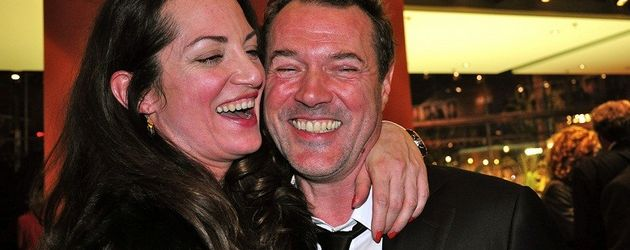 Berlinale 2011: Sebastian Koch und Natalia Wörner amüsieren sich