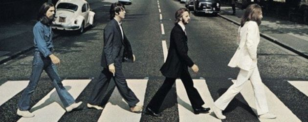 Die Beatles auf dem Abbey Road-Cover