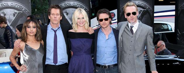 Die Hauptdarsteller des neuen X-Men-Films.