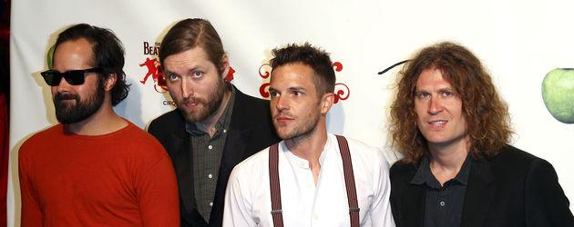 Die Indie Band The Killers posiert für Fotografen