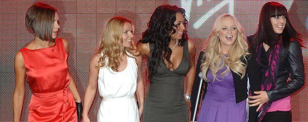Die Spice Girls gemeinsam auf der Bühne