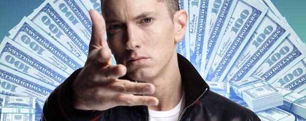 Eminem vor 100 Dollar Scheinen