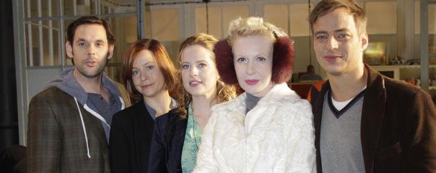 Frisch gepresst: Die Hauptdarsteller Diana, Jule, Sunnyi, Tom und Alexander