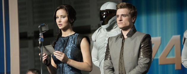 Hunger Games-Catching Fire: Josh Hutcherson und Jennifer Lawrence