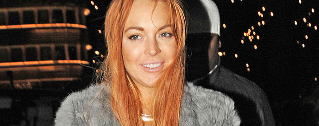 Lindsay Lohan mit orangefarbenen Haaren