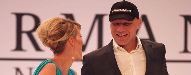 Monica Ivancan neben Axel Schulz