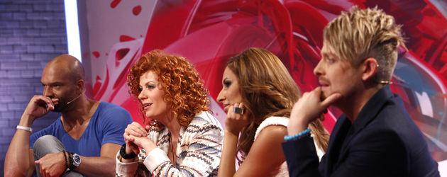 Popstars-Jury Lucy, Detlef, Ross und Senna