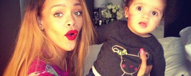 Rihanna und kleines Baby