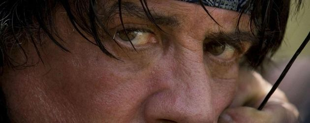 Sylvester Stallone als Rambo Nahaufnahme
