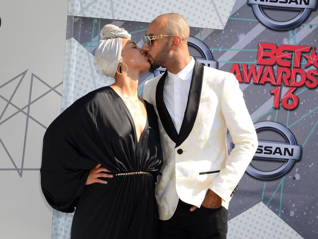 Alicia Keys und ihr Ehemann Swizz Beatz bei den BET Awards 2016