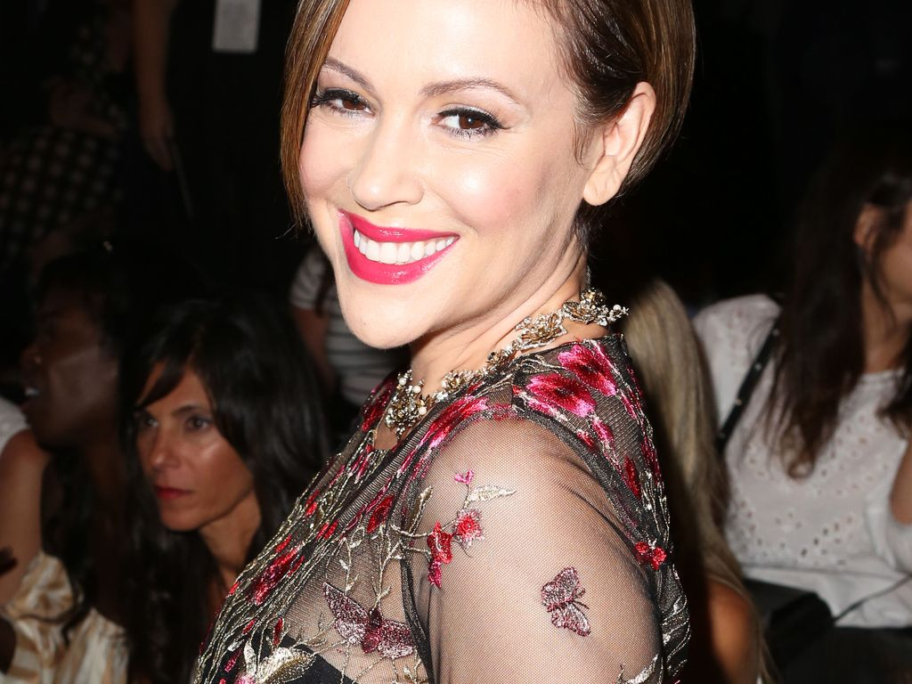 Alyssa Milano bei der New York Fashion Week 2016