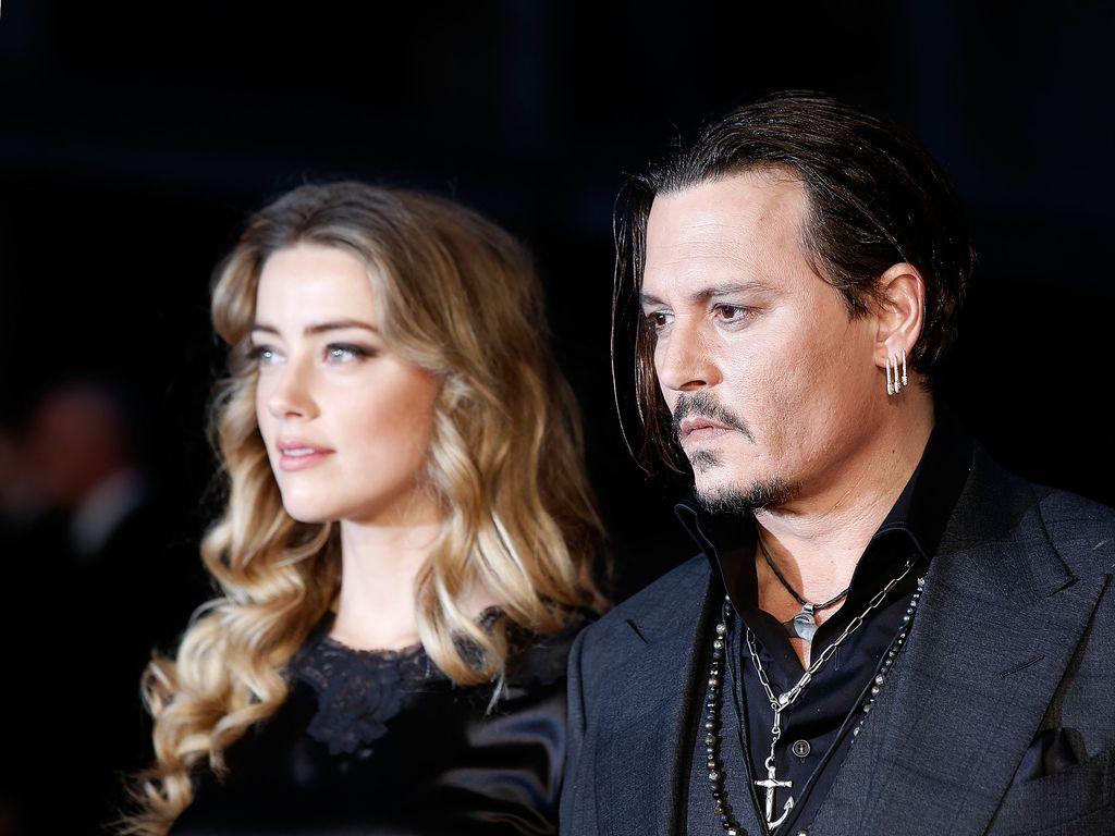 Amber Heard und Johnny Depp beim BFI London Film Festival