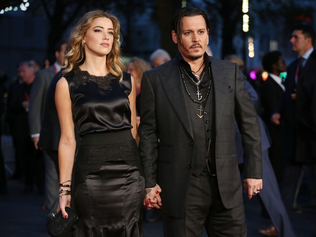 "Amber Heard und Johnny Depp bei der ""Black Mass""-Premiere in London"