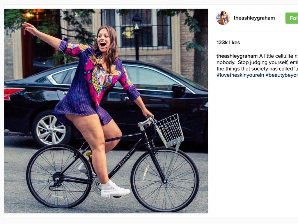 Ashley Grahams Cellulite-Instagram-Foto