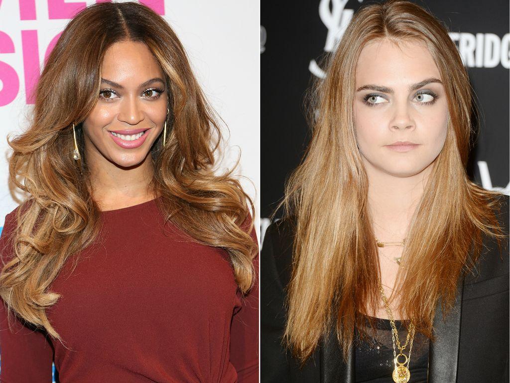 Beyonce und Cara Delevingne