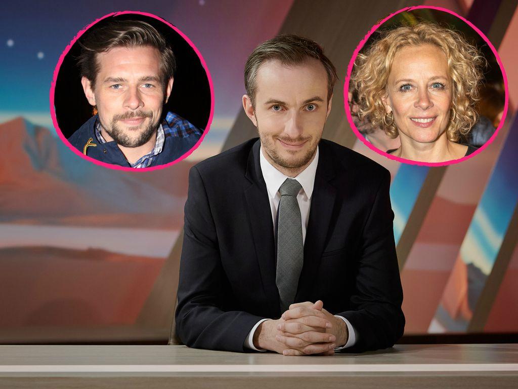Jan Böhmermann, Klaas Heufer-Umlauf und Katja Riemann