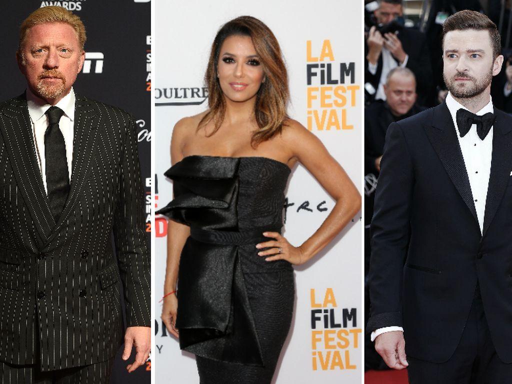 Boris Becker, Eva Longoria und Justin Timberlake