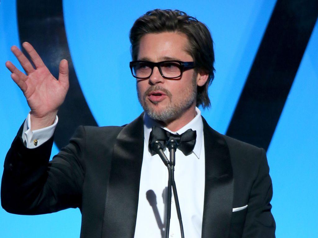 Brad Pitt bei einer Rede