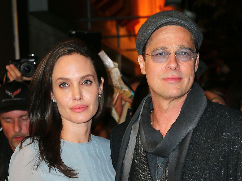 Brad Pitt und Angelina Jolie bei einem Auftritt in NYC in 2015