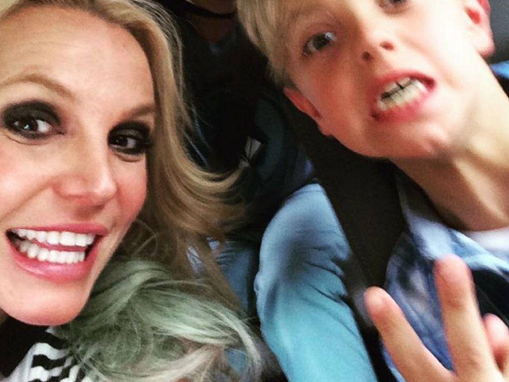 Britney Spears mit ihrem Sohn