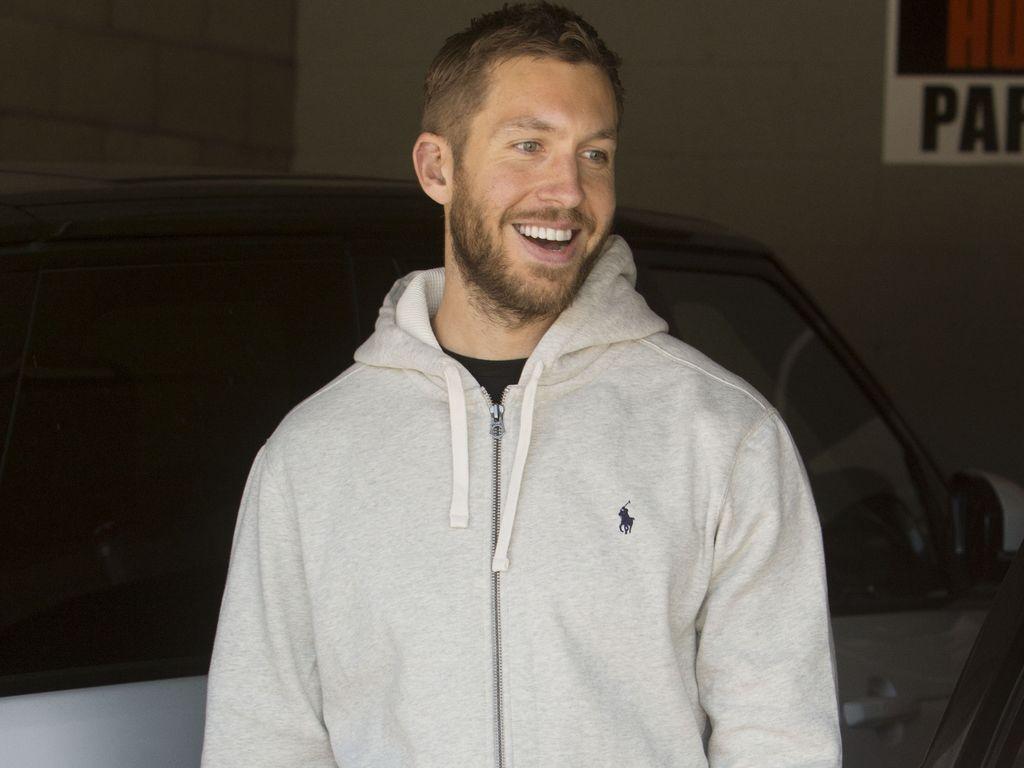 Calvin Harris beim Verlassen seines Fitnessstudios