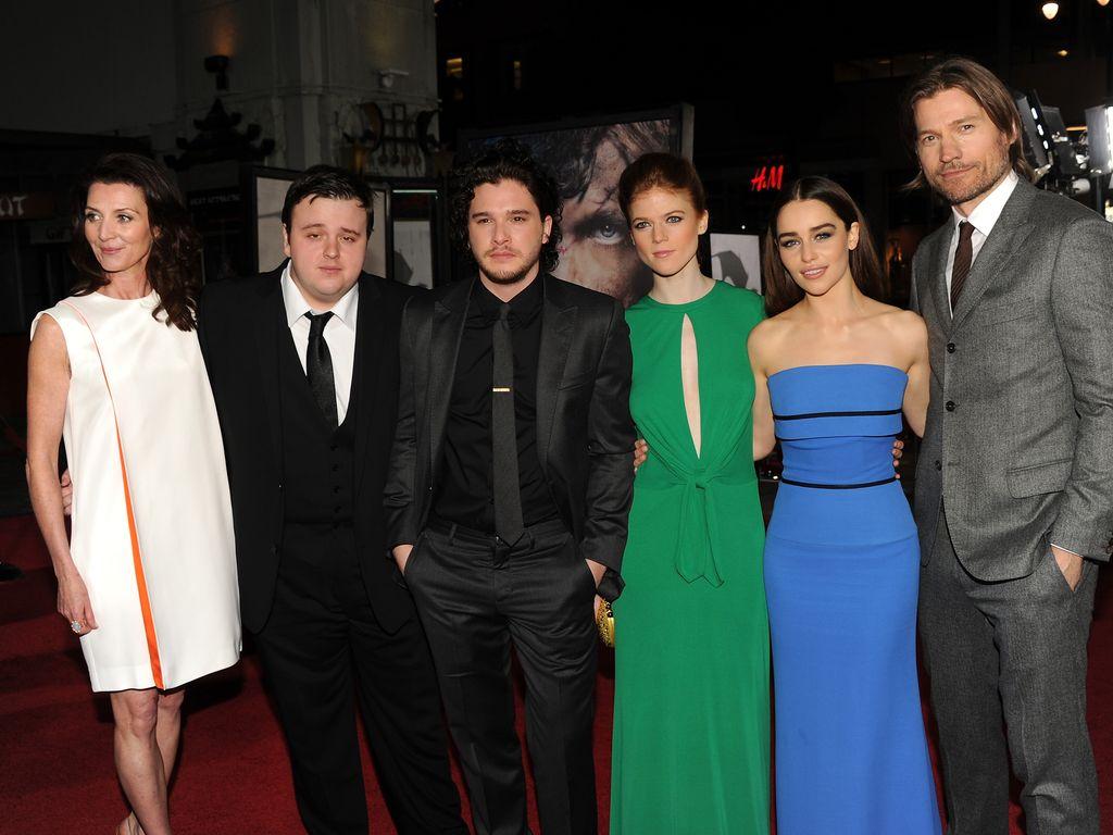 Emilia Clarke, Kit Harington, Michelle Fairley, Rose Leslie und Nikolaj Coster-Waldau