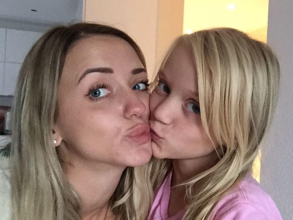 Cathy Lugner und ihre Tochter Léonie