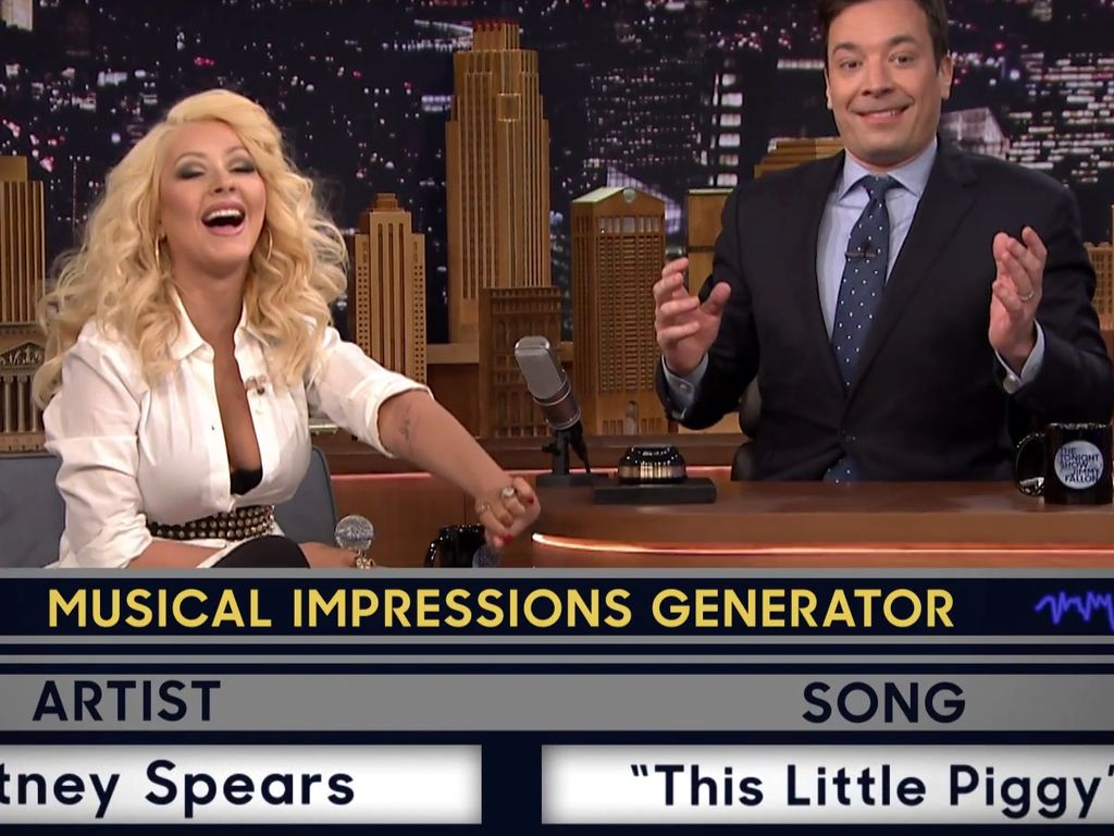 Christina Aguilera und Jimmy Fallon