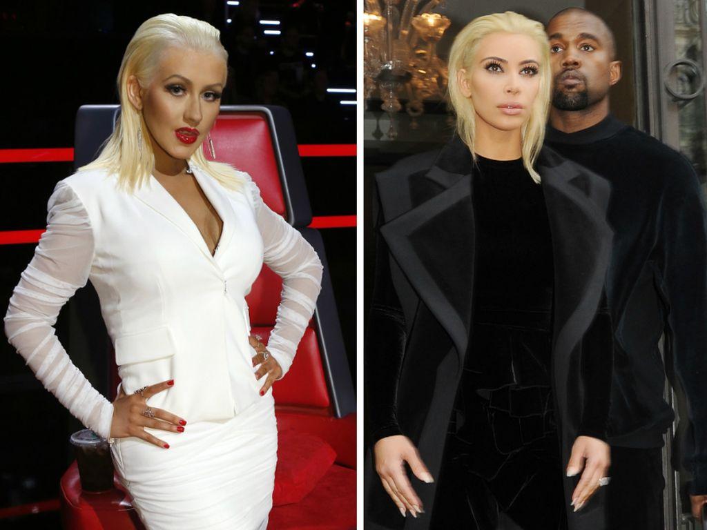 Kim Kardashian und Christina Aguilera