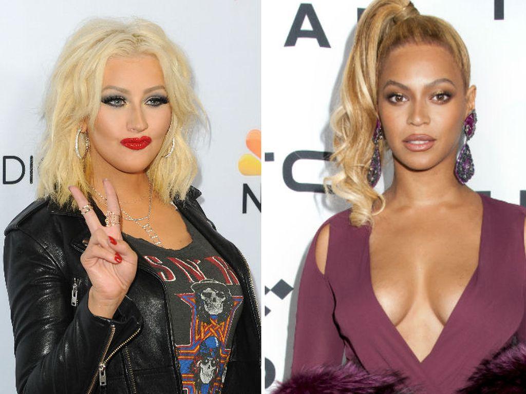 Beyonce und Christina Aguilera