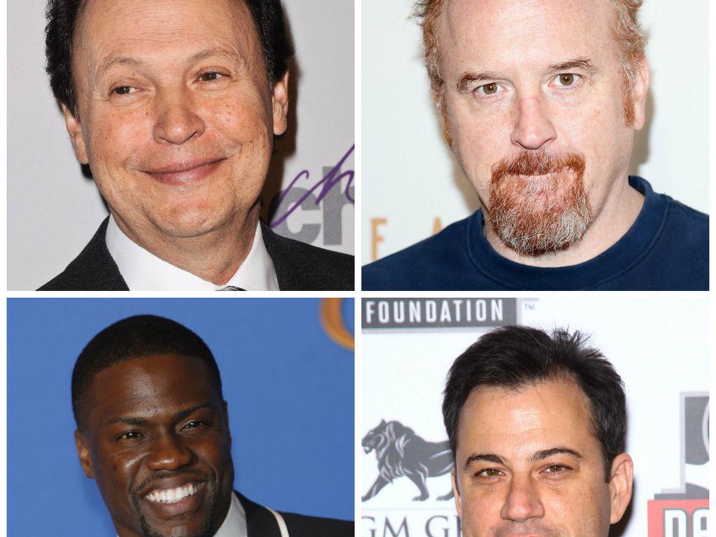 Billy Crystal und Louis C.K. (o.r.), Kevin Hart und Jimmy Kimmel (u.r.)