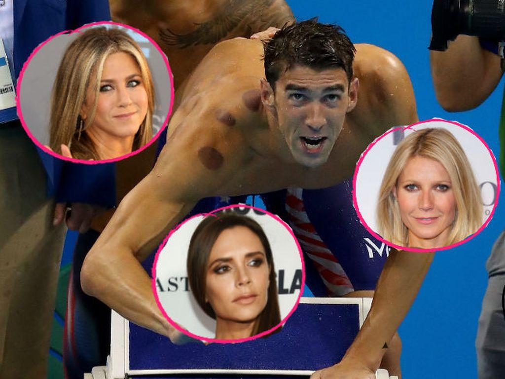 Michael Phelps, Jennifer Aniston, Victoria Beckham und Gwyneth Paltrow