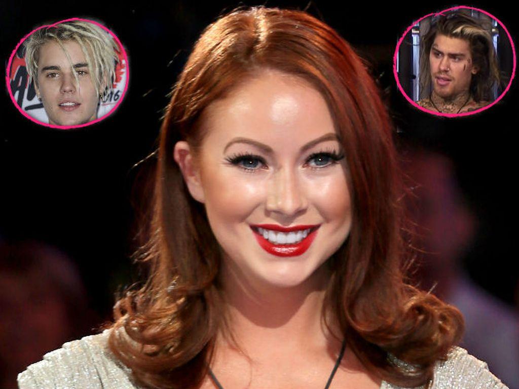 Reality-Star Laura Carter, eingekreist: Justin Bieber (l.) und Marco Pierre White Jr. (r.)