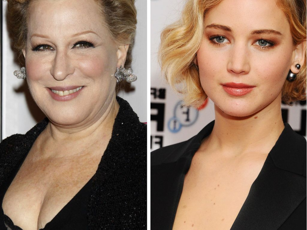 Jennifer Lawrence und Bette Midler