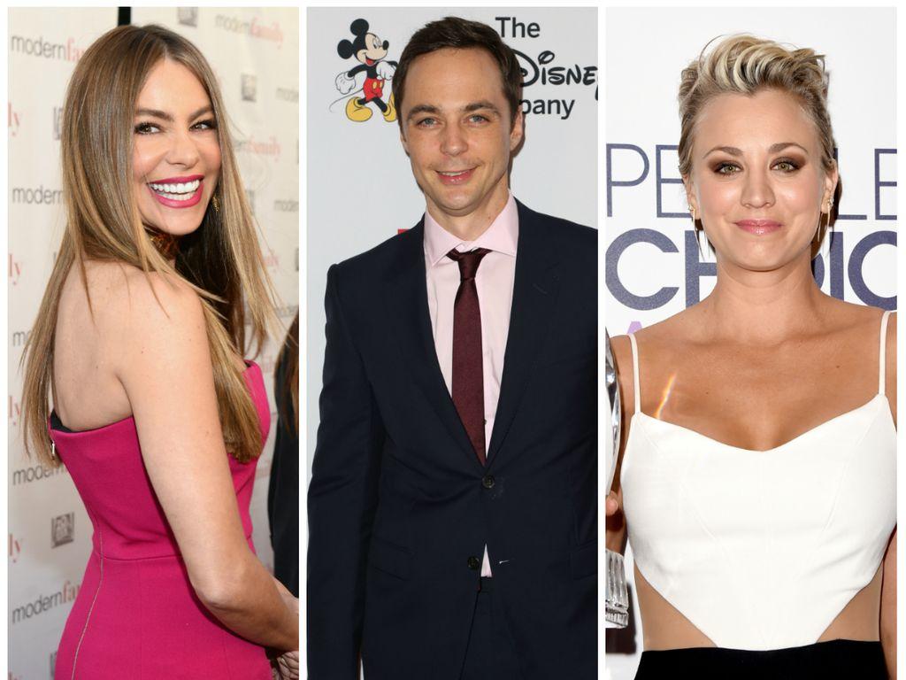 US-Serienstars: Sofia Vergara, Jim Parsons und Kaley Cuoco