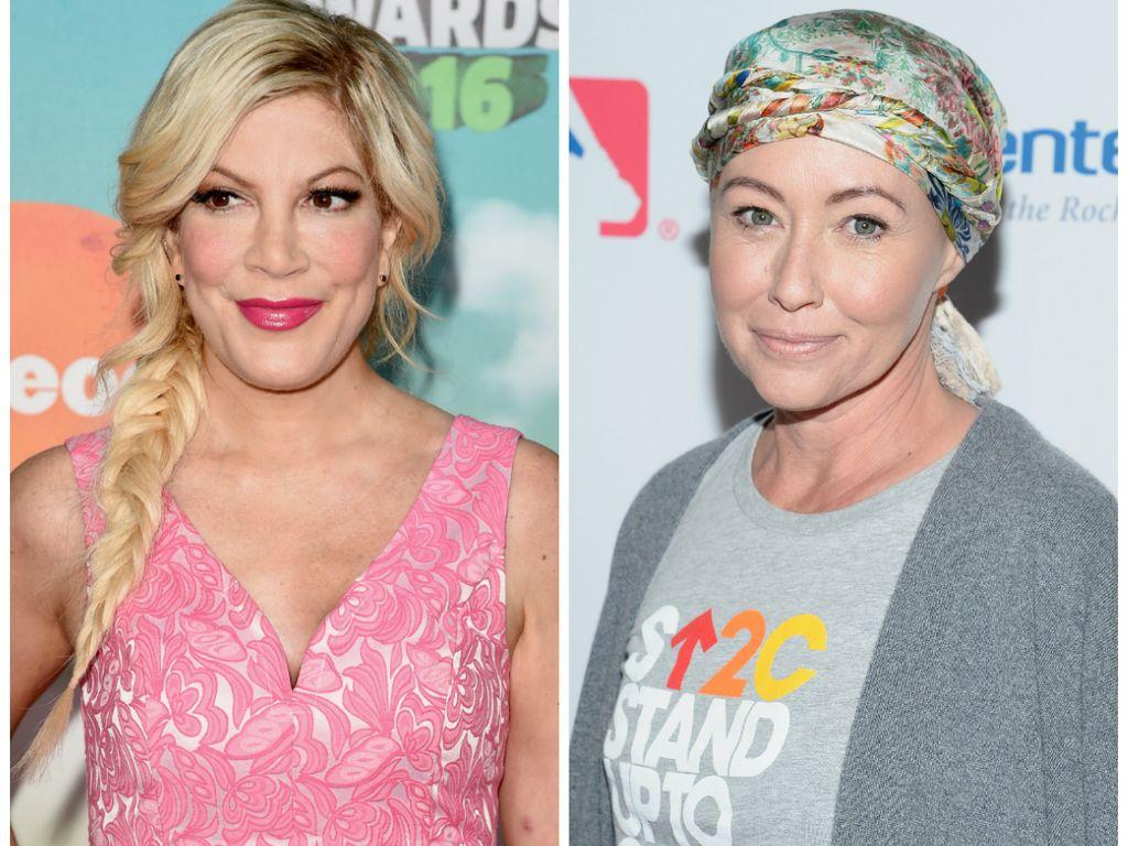 """Die """"Beverly Hills 90210""""-Stars Tori Spelling und Shannen Doherty"""