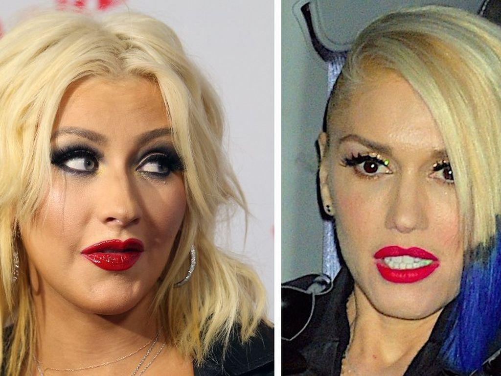 Gwen Stefani und Christina Aguilera