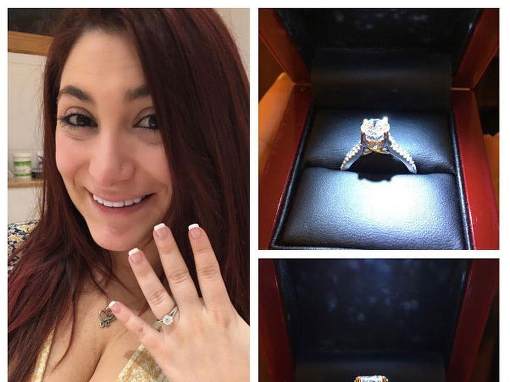 Deena Nicole Cortese am Tag ihrer Verlobung